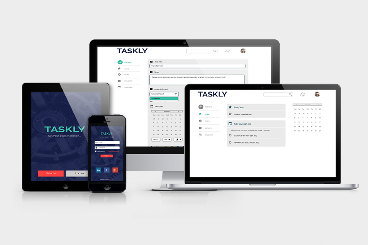 UX Design: Taskly, a task management app for millennial professionals